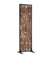 Séparation en bois d'hibiscus et armature métal WALES - CASITA