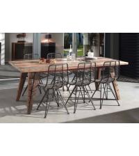 Table de repas 1m80 ORSENA en mélange de bois recyclés - CASITA