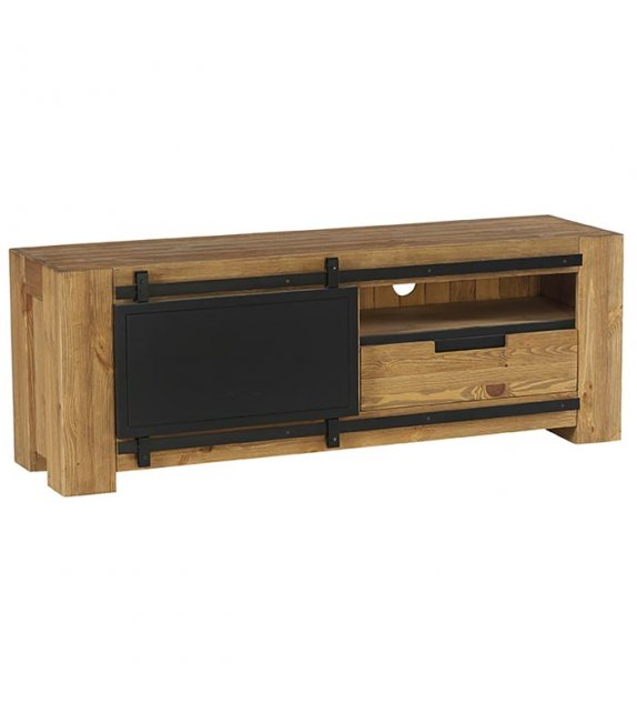 Meuble TV - 1 porte 1 niche 1 tiroir 148cm - NEW