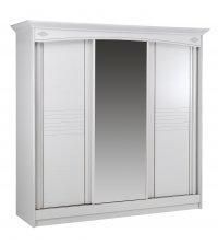 Armoire 3 portes coulissantes (2 pleines, 1 glace centrale) L222 - CERISIA