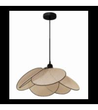 Suspension Evasion cannage naturel ganse noire petit modele (H.50/150cm) - Opjet