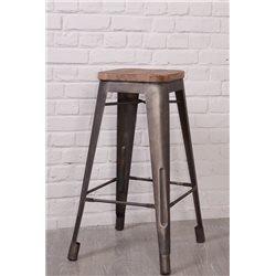 Table ANDOMA en teck recyclé et mélange de bois recyclés - STYL